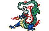 Budoten  Stickmotiv Drachen / Dragon - EMB-LH464