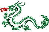 Budoten  Stickmotiv Drachen / Dragon - EMB-NW929