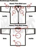 Budoten  Position Textil-Bestickung Hemd, Polo-Shirt