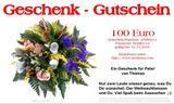 Budoten  Brief-Geschenkgutschein mit Blumen-Design