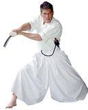 Budoland Hakama S - Hakama für Aikido und Kendo aus 65% Polyester und 35% Baumwolle