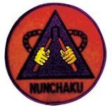 Budoland  Stickabzeichen Nunchaku