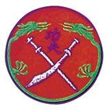 Budoland  Stickabzeichen Drachenschwert