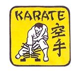Budoland  Stickabzeichen Karate Bruchtest