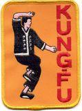 Budoland  Stickabzeichen Kung-Fu-Position