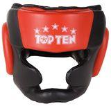 Top Ten  Kopfschutz  Sparring schwarz/rot