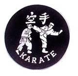 Budoland  Stoffabzeichen Karate-Tritt