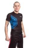 Kurzarm-Shirt Rash Guard Top Ten MMA Octagon