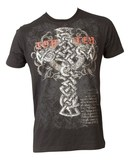 Top Ten T-Shirt TopTen MMA Tribal Cross, Schwarz