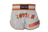 Top Ten  Kurze Kickboxing Shorts TopTen Flexz Pro, Weiß-Orange