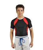 Ju-Sports  Rash Guard kurzarm schwarz/rot/weiß