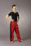 Ju-Sports  Kickboxhose Kick rot/schwarz