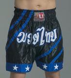 Ju-Sports  Thaiboxhose Blue Tone schwarz/blau