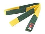 Ju-Sports BJJ Wettkampfgürtel gelb-grün