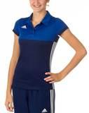 Adidas  T16 Clima Cool Polo Damen AJ5476, Navy Blau-Royal Blau