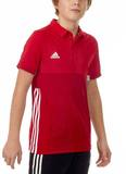 Adidas  T16 Clima Cool Polo Jungen AJ5472, Power Rot-Scarlet Rot