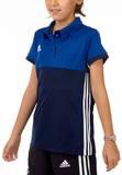 Adidas  T16 Clima Cool Polo Mädchen AJ5258, Navy Blau-Royal Blau