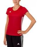 Adidas  T16 ClimaCool T-Shirt Damen AJ5441, Power Rot-Scarlet Rot