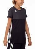 Adidas  T16 ClimaCool T-Shirt Mädchen AJ5254, Schwarz-Grau