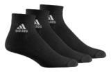 Adidas  Sportsocken, 3er Pack Schwarz kurz AA2286