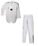Adidas  Taekwondoanzug Adi Club 3 Stripes weißes Revers