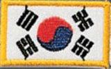 KWON  Stickabzeichen Korea flag
