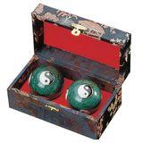 KWON Chinesische Chi-Gong-Kugeln - Stahlkugeln, emaillert mit Yin-Yang-Zeichen und Klang