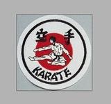 KWON  Stickabzeichen Karate weiß-rot