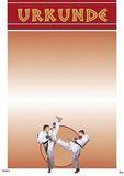 KWON  Urkunde Karate rot