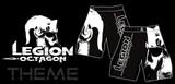 Legion Octagon  MMA Short Hose Theme Legion Octagon, schwarz/weiß