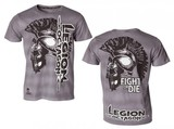 Legion Octagon T-Shirt L.O. Fight or Die, grau