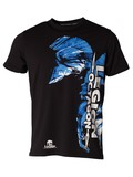 Legion Octagon  L.O. T-Shirt Blue Head, Schwarz