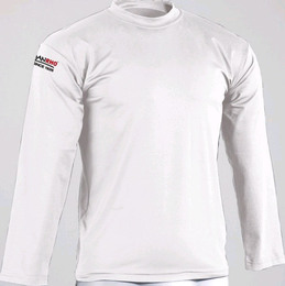 Rash guard Langarm Shirt weiß