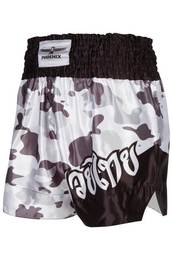 Thai Shorts, FIGHTER grey camo