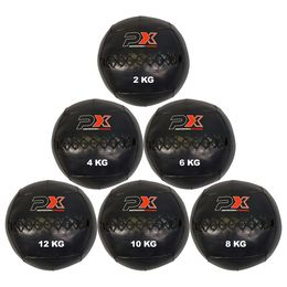Wall Ball Cross, Medizinball, PVC schwarz