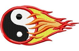 Stickmotiv Yin-Yang - Flaming Martial Arts EMB-SP828