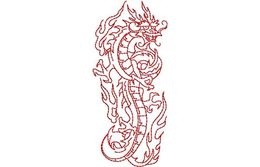 Stickmotiv Asiatischer Drache / Asian Dragon - EMB-NY328