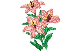 Stickmotiv Asiatische Lilien / Asian Lilies - EMB-FM654