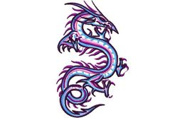 Stickmotiv Drachen / Dragons 19 - EMB-NZ739