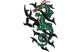 Stickmotiv Stammes-Drachen / Tribal Dragon - EMB-NX043