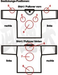 Position Textil-Bestickung T-Shirts, Sweat-Shirts, Pullover