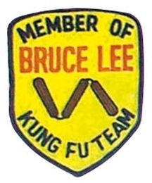 Stickabzeichen Member of Bruce Lee Kung Fu Team