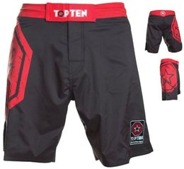 MMA Shorts Octagon in rot-schwarz