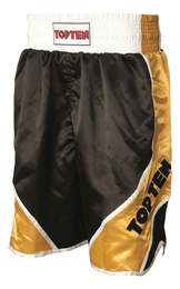 Boxing Shorts TopTen Shiny, Schwarz-Gold