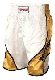 Boxing Shorts TopTen Shiny, Weiß-Gold
