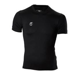 Compression Shirt kurzarm schwarz