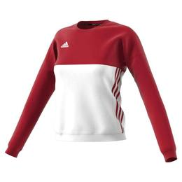 T16 Team Sweater Damen AJ5416, Rot-Weiß