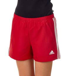 T16 ClimaCool Woven Short Damen AJ5291, Power Rot-Weiß