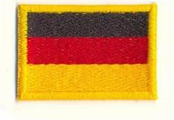 Stickabzeichen Deutschland-Flagge