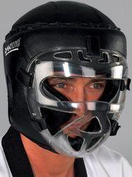 Kopfschutz schwarz mit Maske